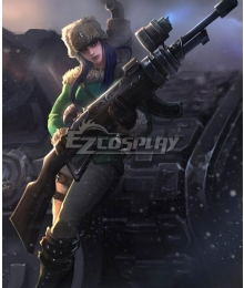 League Of Legends LOL Arctic Warfare Caitlyn Cosplay Costume