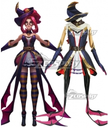 League Of Legends LOL Bewitching Janna Skin Halloween Cosplay Costume