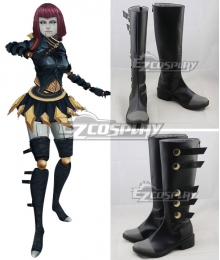 League Of Legends LOL Bladecraft Orianna Black Shoes Cosplay Boots