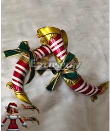 League of Legends LOL Candy Cane Miss Fortune Christmas Double Gun Weapon Prop