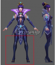 League of Legends LOL Championship Leblanc Blue Shoes Cosplay Boots