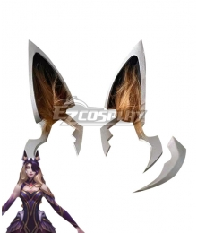 League of Legends LOL Coven Ahri Ears Face Armor Cosplay Accessory Prop