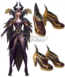 League Of Legends LOL Coven LeBlanc Red Cosplay Shoes