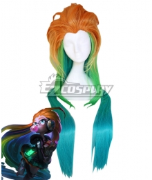 League Of Legends LOL 2018 Zoe Pool Party Skins Blue Cosplay Wig