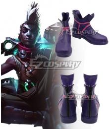 League of Legends LOL Ekko Purple Cosplay Shoes