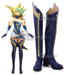 League of Legends LOL Elementalist Lux Storm Concept Blue shoes Cosplay Boots