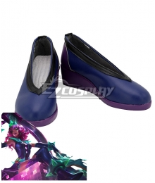 League Of Legends LOL Empress Of The Elements Battle Boss Qiyana Purple Cosplay Shoes