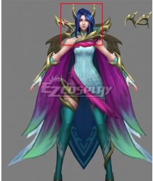 League Of Legends LOL Fae Dragon Ashe Blue Cosplay Wig