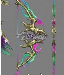 League Of Legends LOL Fae Dragon Ashe Bow Arrow Cosplay Weapon Prop