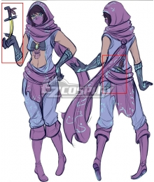 League Of Legends LOL Female The Prophet of The Void Malzahar Dagger Knife Cosplay Weapon Prop