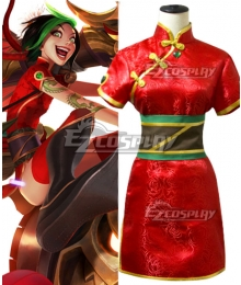League of Legends LOL Firecracker Jinx Cosplay Costume