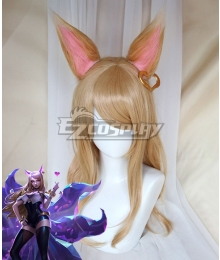 League Of Legends LOL KDA K/DA Ahri Brown Cosplay Wig - Wig + Ears