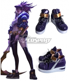 League Of Legends LOL KDA K/DA Akali Black Cosplay Shoes