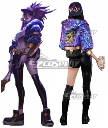 League Of Legends LOL KDA K/DA Akali New Edition Cosplay Costume - Processed item