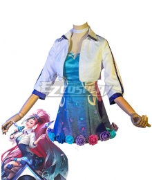 League Of Legends LOL K/DA ALL OUT Seraphine Rising Star Cosplay Costume