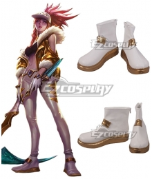 League Of Legends LOL KDA K/DA Akali Prestige Edition White Cosplay Shoes