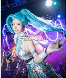 League Of Legends LOL KDA K/DA ALL OUT Seraphine Superstar Halloween Carnival Dance Dress Cosplay Costume