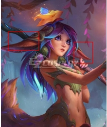 League of Legends LOL Lillia Purple Cosplay Ears Cosplay Accessory Prop