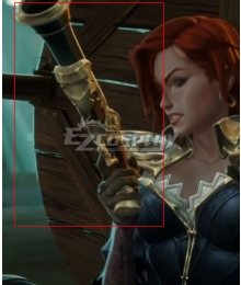 League Of Legends LOL Tales of Runeterra: Aguas Estancadas Miss Fortune Gun Cosplay Weapon Prop