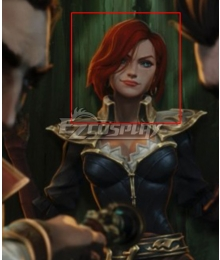 League Of Legends LOL Tales of Runeterra: Aguas Estancadas Miss Fortune Orange Cosplay Wig