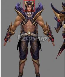 League Of Legends LOL Obsidian Dragon Sett Black Cosplay Wig
