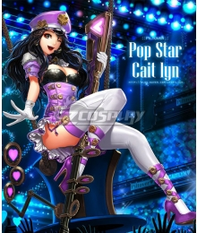 League Of Legends LOL Pop Star Caitlyn  Cosplay Costume