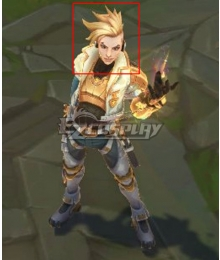 League of Legends LOL Psyops Master Yi Light Golden Cosplay Wig