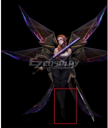 League of Legends LOL PsyOps Kayle Black Shoes Cosplay Boots