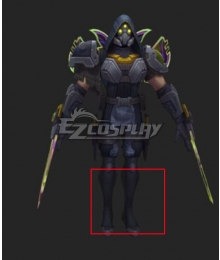 League of Legends LOL PsyOps zed Black Shoes Cosplay Boots