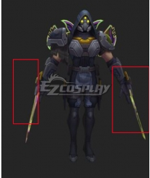 League of Legends LOL PsyOps zed Cosplay Weapon Prop