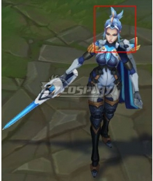 League of Legends LOL Pulsefire Fiora Blue Cosplay Wig