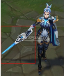 League of Legends LOL Pulsefire Fiora Cosplay Weapon Prop
