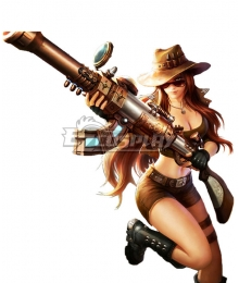 League Of Legends LOL Safari Caitlyn Cosplay Costume
