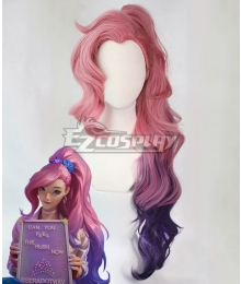 League of Legends LOL Seraphine Pony-tail Pink Purple Cosplay Wig