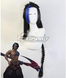 League of Legends LOL Shieda Kayn The Shadow Reaper Black Purple  Cosplay Wig
