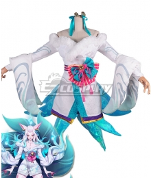 League of Legends LOL Spirit Blossom Ahri White Version Cosplay Costume