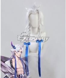 League Of Legends LOL Spirit Blossom Yone White Cosplay Wig