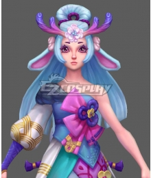 League of Legends LOL Spirit Blossom Lillia Blue Cosplay Wig