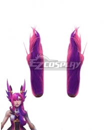 League of Legends LOL Star Guardian 2019 Xayah Purple Ears Cosplay Accessory Prop