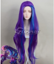League of Legends LOL Star Guardian 2019 Zoe Blue Purple Cosplay Wig