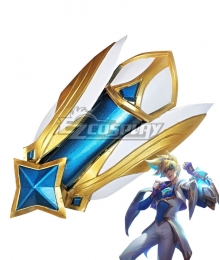 League of Legends LOL Star Guardian Ezreal Greaves Cosplay Weapon Prop