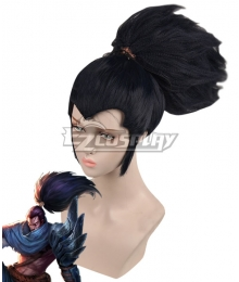 League Of Legends LOL the Unforgiven Yasuo Black Cosplay Wig