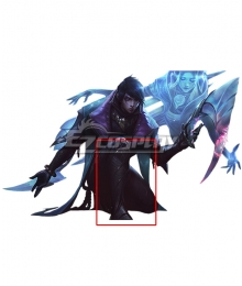 League of Legends LOL The Weapon Of The Faithful Aphelios Black Shoes Cosplay Boots