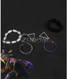 League of Legends LOL True Damage Akali Full Accessories Cosplay Accessory Prop