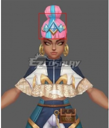 League of Legends LOL True Damage Qiyana Prestige Edition Headwear Cosplay Accessory Prop