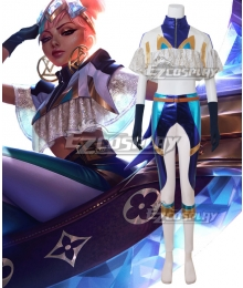 League of Legends LOL True Damage Qiyana Prestige Edition Cosplay Costume