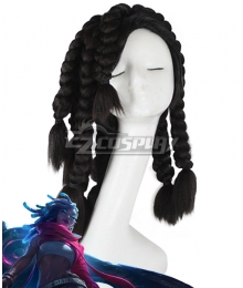 League of Legends LOL True Damage Senna Black Cosplay Wig