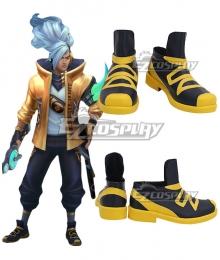 League of Legends LOL True Damage Yasuo Prestige Edition Black Cosplay Shoes