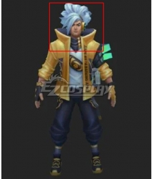 League of Legends LOL True Damage Yasuo Prestige Edition Blue Cosplay Wig