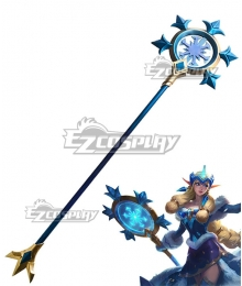 League Of Legends LOL Winter Wonder Soraka Skin Wands Cosplay Weapon Prop